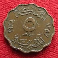Egypt 5 Milliemes 1357 1938  Brz Egipto Egypte Egito Egitto Ägypten 2L1-4 - Egypte