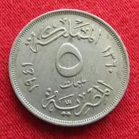 Egypt 5 Milliemes 1360 1941 Egipto Egypte Egito Egitto Ägypten - Egypte