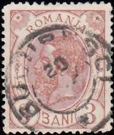 ROMANIA - Scott #119 King Carol I 'Wmk. 164' (2) / Used Stamp - 1881-1918: Charles I