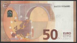 """50 EURO ITALIA  SA  S016  Ch. """"35""""  - DRAGHI   UNC - 50 Euro"""