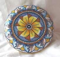 Boite En Ceramique D'Art Signée  De Deruta Italie . - Boxes
