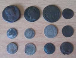 Vrac De Plus De 100 Monnaies Anciennes France Et étranger, Royales, 18e, 19e, 20e Principalement - Mauvais état - Monnaies & Billets