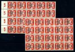 Z05726)DR 722(*), 40 Stück In Einheiten, Danzig Abschied - Deutschland