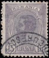 ROMANIA - Scott #140 King Carol I (2) / Used Stamp - 1881-1918: Charles I