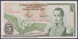 TWN - COLOMBIA 406f4 - 5 Pesos Oro 1.1.1981 AU/UNC - Colombia