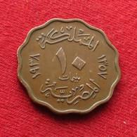 Egypt 10 Milliemes 1357 1938  Brz Egipto Egypte Egito Egitto Ägypten  2L1-2 - Egypte