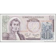 TWN - COLOMBIA 407g2 - 10 Pesos Oro 7.8.1980 AU/UNC - Colombie