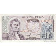 TWN - COLOMBIA 407h - 10 Pesos Oro 7.8.1980 Serie AZ AU/UNC - Colombia