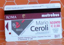 Mario Ceroli Palazzo Esposizioni Metrobus Ticket Roma  Biglietto Bus BIT  2007 - Europa