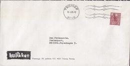 Norway BUTIKKEN Prestenggt. 39, TMS Cds. TROMSØ 1973 Cover Brief To Denmark - Norwegen