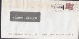 Norway NORWAY DESIGNS Stortingsgatan 28, TMS Cds. OSLO (Br. 1) 1971 Cover Brief 'SIGNERT DESIGN' Cachet - Norwegen