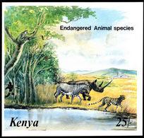 Kenya 1985 Endangered Species Souvenir Sheet Unmounted Mint. - Kenya (1963-...)