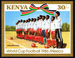 Kenya 1986 World Cup Football Souvenir Sheet Unmounted Mint. - Kenya (1963-...)