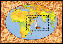 Kenya 1986 Dhows Of Kenya Souvenir Sheet Unmounted Mint. - Kenya (1963-...)