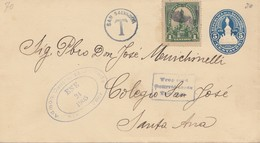 El Salvador 1905 San Salvador To Santa Ana, Tax - Salvador