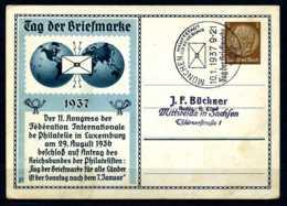 Z12979)DR Privat-GA Tag Der Briefmarke 1937 Mit SST - Deutschland