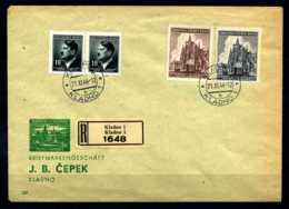 Z14482)Böhmen & Mähren 140/141 FDC - Occupazione 1938 – 45