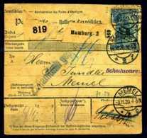 Z15460)DR 95 B IIb Paketkarte, Best. Gepr. Jäschke-Lantelme - Deutschland