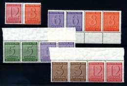 Z15814)SBZ ZDR W 13 - W 16** - Zone Soviétique