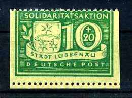 Z19101)Lokalausgabe Lübbenau 9 Senkrecht U** - Zone Soviétique