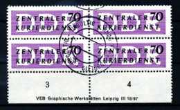 Z19346)DDR Dienst B 9 UR-VB Mit DV Ungültig Gest. - DDR