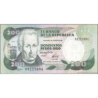 TWN - COLOMBIA 429A - 200 Pesos Oro 10.8.1992 AU/UNC - Colombie