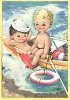 Tematica - Bambini - 1970 - 25 Siracusana - Bambini Su Canoa - Viaggiata Da Pellestrina Per  Predazzo - Disegni Infantili