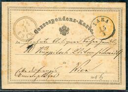 AUTRICHE - ENTIER POSTAL TYPE TP N° 32 OBL. ZARA LE 15/4/1871 POUR WIEN - TB - Ganzsachen