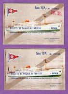Billet De Transport Compagnie Transmediterranée Madrid Espagne - Titres De Transport