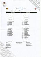 UEFA NATIONS LEAGUE 2018/19. ANDORRA Vs GEORGIA, Line-ups, Final Tournament List 15 NOV. 2018 ESTADI NACIONAL - Football