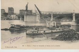 CPA - PARIS - PONT DE GRENELLE ET STATUE DE LA LIBERTÉ - 20 - P. MARMUSE - PRÉCURSEUR - PÉNICHES - PIERRES - - Ponti