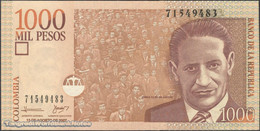 TWN - COLOMBIA 456g - 1000 1.000 Pesos 13.8.2007 UNC - Colombia
