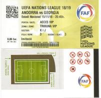 UEFA NATIONS LEAGUE 2018/19. ANDORRA Vs GEORGIA, Tribune VIP 15 Nov.2018 ESTADI NACIONAL ANDORRA - Football