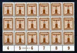 Z20361)DR Dienst 156, 18er-Block Mit HAN** - Dienstpost