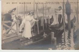 CPA - PARIS - AU BON MARCHE - SOCIÉTÉ DES ARTISTES FRANÇAIS - SALON DE 1914 - LÉONCE DE JONCIERES L'HEURE MAUVE A VENISE - Venezia (Venice)