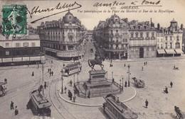 45. ORLEANS.  CPA .  VUE PANORAMIQUE DE LA PLACE DU MARTROI ET RUE DE LA REPUBLIQUE. ANNÉE 1908 - Orleans