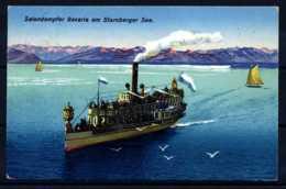 Z25183)Ansichtskarte 1926 Salondampfer Bavaria Am Starnberger See - Starnberg
