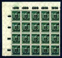 Z27065)DR 279 IV ER-20er-Block** - Ungebraucht