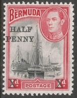 Bermuda. 1940 Surcharge. ½d On 1d MH SG 140 - Bermuda