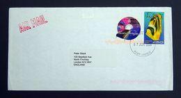 Pitcairn Islands 2008 SG589/602 Air Mail Cover To London, England CDS, Machine Cancel + Cachet. - Pitcairn Islands
