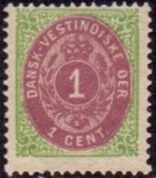 Deens Indië 1873-1902 1cent Tanding 14x13½ PF-MNH - Denmark (West Indies)