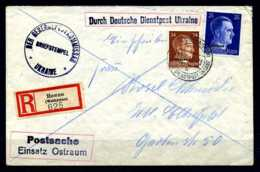 Z30185)Ukraine Interessanter Bedarfs-E-Brief - Besetzungen 1938-45