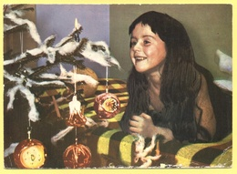 Tematica - Bambini - 1965 - Bambina Vicino All'albero Di Natale - 10 Slsak Jugoslavia - Viaggiata Da ????? Per ????? - Disegni Infantili