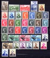 1948-49  Luxembourg, Grande Duchesse Charlotte, UPU, Caritas, Entre  406 Et 442**, Cote 224 €, - Luxembourg