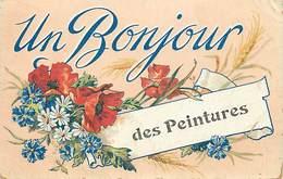 - Gironde -ref-C247- Les Peintures - Souvenir De .. - Fleurs - - France