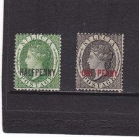 SAINTE LUCIE 1883 VICTORIA Yvert 19-20 NEUF* Cote : 55 Euros - Ste Lucie (...-1978)
