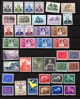 1951-54  Luxembourg, Grande Duchesse Charlotte, Duc Jean, Echternach, Caritas, Entre  449  Et 489**, Cote 310 €, - Luxembourg