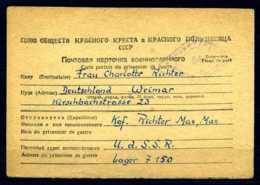 Z31939)DR POW/Kriegsgefangenenbrief 1948 Aus Der UDSSR - Allemagne