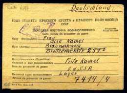 Z31942)DR POW/Kriegsgefangenenbrief 1949 Aus Der UDSSR - Allemagne