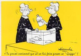 HUMOUR 215 : Illustrateur Alexandre , Tu Pense Vraiment Que Cela Va Lui Faire Passer Sa Grippe ( Poisson , Rhum ) - Humour